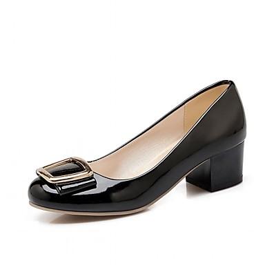 Mulheres Sapatos Courino Couro Ecológico Primavera Verão Conforto Inovador Saltos Caminhada Salto Robusto Ponta Redonda Poa para Social