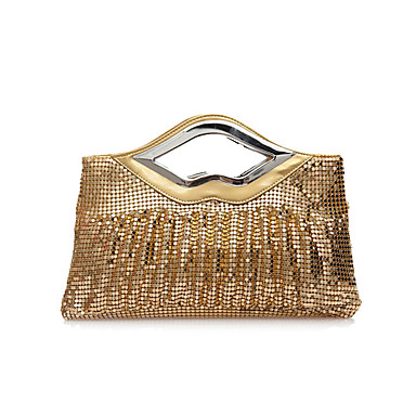 Women's Bags Polyester Evening Bag Sequin Silver / Coffee / Red