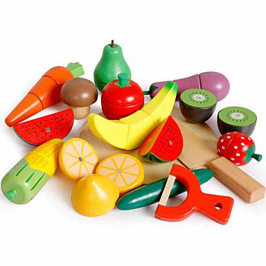 Comida de Brinquedo Frutas e Vegetais Cortadores de Frutas e Vegetais Magnética Clássico Para Meninos Para Meninas Brinquedos Dom