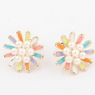 Herrn Damen Ohrstecker Kreolen Imitierte Perlen Personalisiert Blumig Blumen Stil Retro Grundlegend Sexy Blumen Modisch nette Art