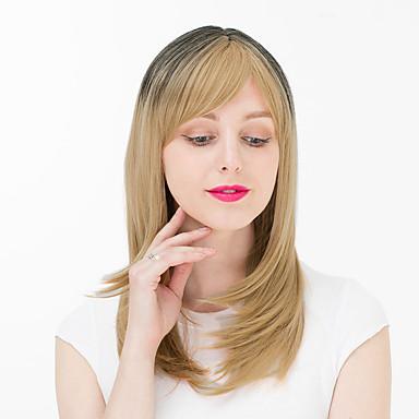 billige Kostymeparykk-Syntetiske parykker Krøllet Stil Lokkløs Parykk Blond Syntetisk hår Dame Parykk