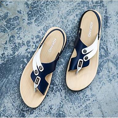 Herren Schuhe Nappaleder Leder Frühling Komfort Sandalen Für Normal Gelb Blau Hellbraun