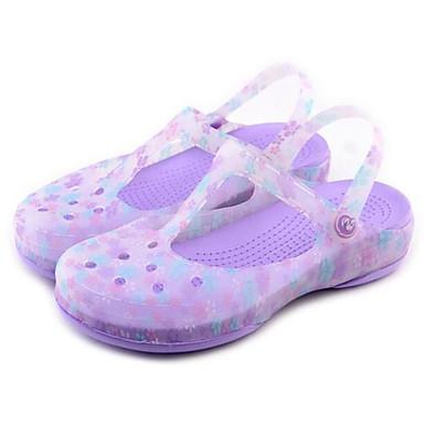 Damen Schuhe Silikon Frühling Komfort Loch Schuhe Sandalen Für Normal Violett Rosa Hellblau