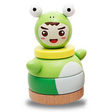 Bausteine Stapelspiele Bildungsspielsachen Spielzeuge Turm Frosch Gleichgewichtspunkt Holz Kinder Stücke