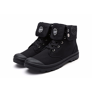 Herren Sneaker Komfort Leinwand Frühling Normal Komfort Schwarz Grau Khaki Flach