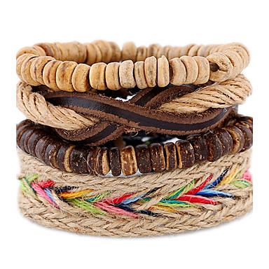 Pulseiras de couro - Pele Vintage, Fashion Pulseiras Arco-íris Para Casamento / Festa / Esportes