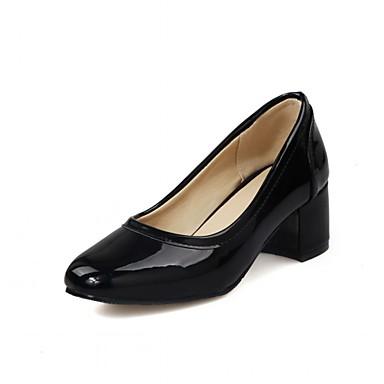 Mulheres Sapatos Sintético Courino Couro Ecológico Primavera Outono Conforto Inovador Saltos Caminhada Salto Robusto Ponta quadrada Poa