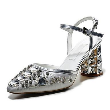 Naiset Kengät PU Kesä Sandaalit Käyttötarkoitus Hopea