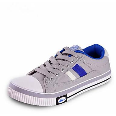 Herren Schuhe Leinwand Frühling Komfort Sneakers Für Normal Silber/schwarz Khaki Blau+Rosa