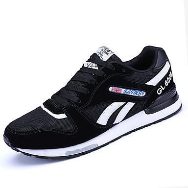 Pánské Obuv PU Jaro Podzim Pohodlné Atletické boty Běh Šněrování pro Venkovní Šedá Modrá Černobílá