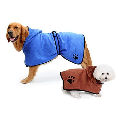 Gato Cachorro Pijamas Roupas para Cães Casual Sólido Marron Azul Ocasiões Especiais Para animais de estimação
