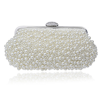 Women's Bags Polyester Evening Bag for Event / Party Champagne / White / Beige / Wedding Bags