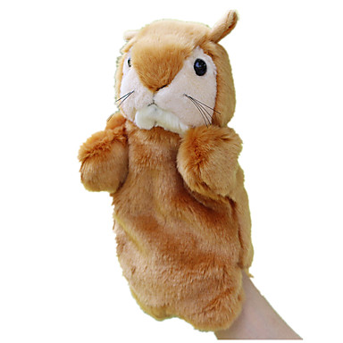 Fantoches de dedo Bonecas Brinquedos Esquilo Canguru Animal Tactel Crianças Peças