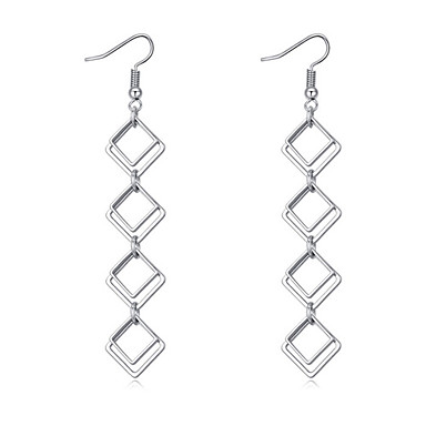 Women's Long Drop Earrings - Simple Style, Fashion, Euramerican Silver For Party / Birthday