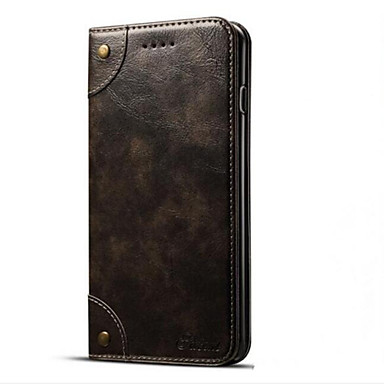Case For Apple iPhone 7 Plus iPhone 7 Card Holder Wallet with Stand Flip Magnetic Full Body Cases Solid Color Hard PU Leather for iPhone