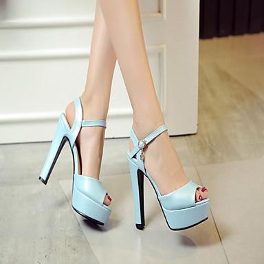 Similicuir Automne Violet Rose 05984662 Bout Marche Bottier Boucle Eté Polyuréthane Bout Femme Talon Chaussures ouvert Sandales rond Bleu BTHAH5