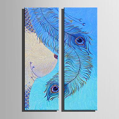 Canvastaulu 2 paneeli Kangas Pysty Painettu Wall Decor Kodinsisustus