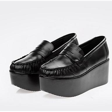 Naisten Kengät Nahka Kevät Tasapohjakengät Musta