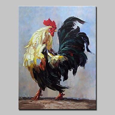Pintados à mão Animais Vertical, Abstracto Moderno/Contemporâneo Tela de pintura Pintura a Óleo Decoração para casa 1 Painel