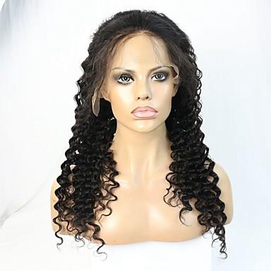 Remy-hius Lace Front Peruukki Laineita 130% / 150% Tiheys Luonnollinen hiusviiva / Afro-amerikkalainen peruukki / 100% käsinsidottu Lyhyt