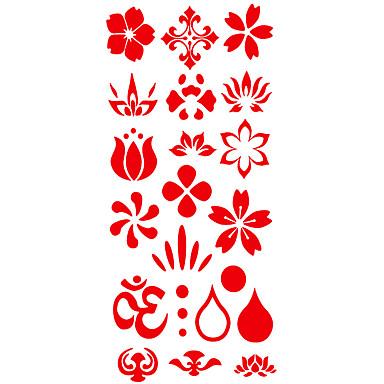 Kuvio / Alaselkä / Waterproof väliaikaiset tatuoinnit Toteemisarja käsissä / varsi / ranne 1 pcs
