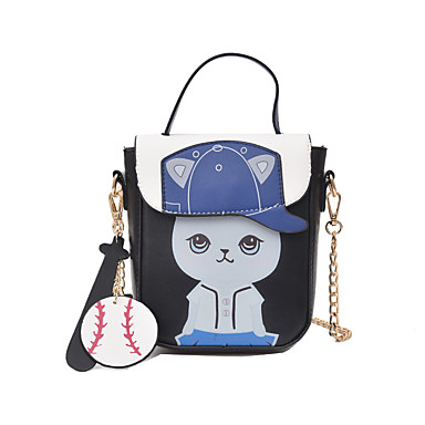 Women's Bags PU Mobile Phone Bag for Casual All Seasons Blue Black Blushing Pink