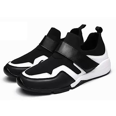 Homens sapatos Couro Ecológico Primavera Outono Solados com Luzes Tênis Caminhada Colchete para Casual Branco / Preto Preto / Vermelho