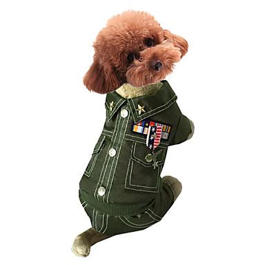 Hund Mäntel Hundekleidung Cosplay Polizei / Militär Kaffee Rot Grün Blau