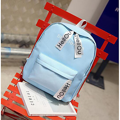 Women's Bags Canvas Backpack for Casual All Seasons Blue Blushing Pink Amethyst