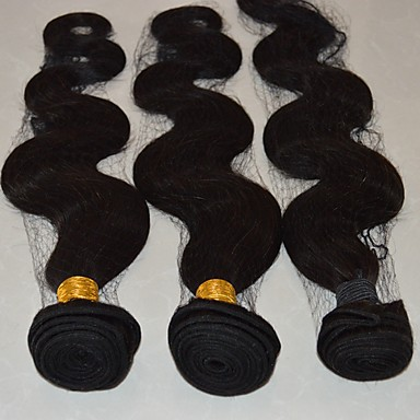 Cabelo Brasileiro Onda de Corpo Tramas de cabelo humano 4 Cabelo Humano Ondulado