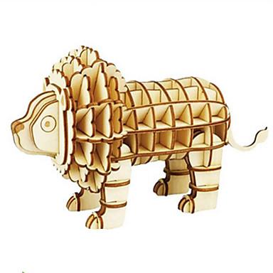Robotime Quebra-Cabeças 3D Quebra-Cabeça Modelos de madeira Brinquedos de Montar Animal 3D Faça Você Mesmo Madeira Madeira Natural