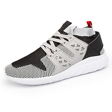 Men's Shoes Net TPU Tulle PVC Summer Fall Comfort Light Soles Athletic Shoes Track & Field Shoes Lace-up for Athletic Outdoor Black Gray