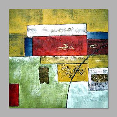 Pintura a Óleo Pintados à mão - Abstrato Estilo Moderno Tela de pintura