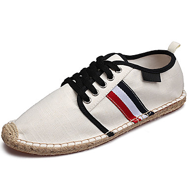 Men's Shoes PU Spring Summer Comfort Sneakers for Casual White Black