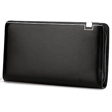 Men Bags All Seasons Cowhide Clutch for Casual Outdoor Black Brown Dark Brown