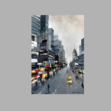 Hang-Painted öljymaalaus Maalattu - Abstrakti Rantatyyliä Kangas