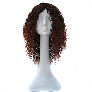 Synthetic Wig Curly Asymmetrical Haircut Synthetic Hair Natural Hairline / African American Wig Brown Wig Women's Short / Medium Length Capless