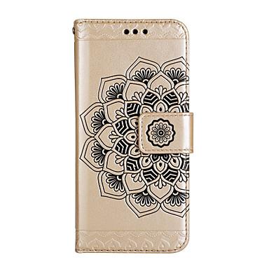 Capinha Para Apple iPhone 8 / iPhone 8 Plus Carteira / Porta-Cartão / Com Suporte Capa Proteção Completa Mandala Rígida PU Leather para iPhone 8 Plus / iPhone 8 / iPhone 7 Plus
