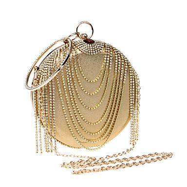 Women's Bags Polyester / PU Evening Bag Rhinestone Gold