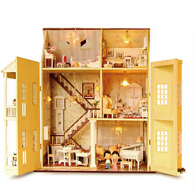 CUTE ROOM Wood Model Model Building Kit DIY Famous buildings House Plastics Wood Classic Pieces Unisex Gift