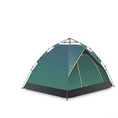 3-4 persons Travel Bag Single Camping Tent Pop up tent Keep Warm Ultraviolet Resistant Rain-Proof for Camping / Hiking Stretch Satin CM