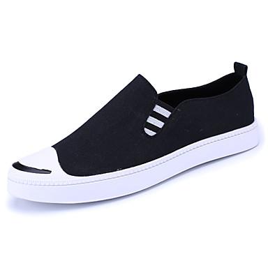 Homens sapatos Couro Ecológico Primavera Outono Conforto Mocassins e Slip-Ons para Ao ar livre Preto Cinzento Azul