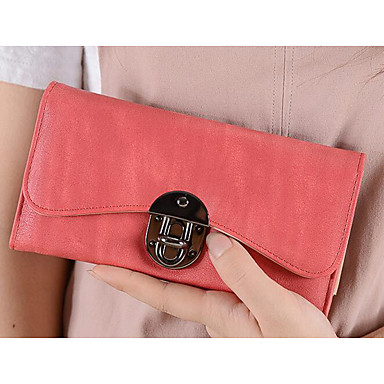 Women Coin Purse PU Polyester All Seasons Rectangle Clasp Lock Blue Black Fuchsia