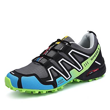 Homens sapatos Couro Ecológico Primavera Outono Solados com Luzes Tênis Corrida Cadarço para Casual Cinzento Preto/Vermelho