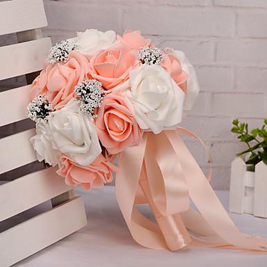 Wedding Flowers Bouquets Wedding Foam Satin 8.66