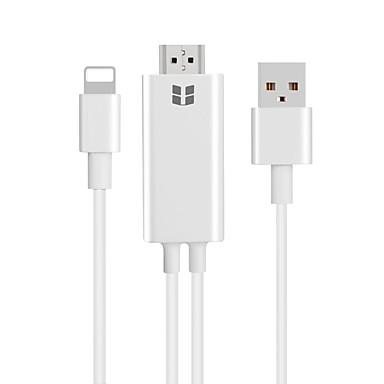 HDMI 1.4 Kaapeli, HDMI 1.4 to Thunderbolt USB 2.0 Kaapeli Uros - Uros 2,0m (6.5Ft)