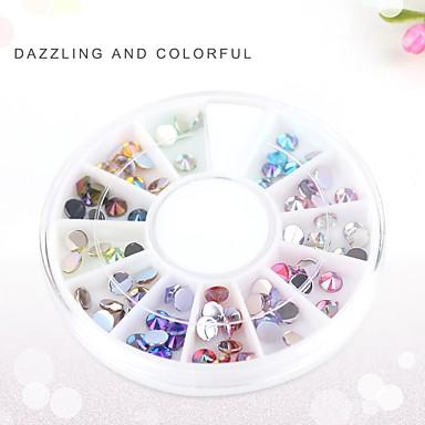 Pinpai Drill Flat Opal Nail Stickers Nail Drill Luminous Resin Jewelry Nail Art Decoration Rhinestone Pearls Nail Art Design
