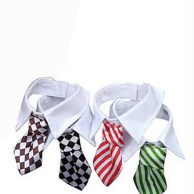 Dog Tie/Bow Tie Dog Clothes Wedding British Black Red Green Rainbow
