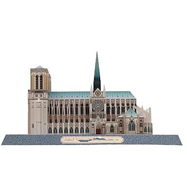 voordelige 3D-puzzels-3D-puzzels Bouwplaat Beroemd gebouw Notre Dame in Parijs kathedraal DHZ Hard Kaart Paper Kinderen Unisex Speeltjes Geschenk