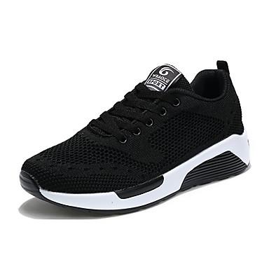 Mulheres Sapatos Malha Respirável Couro Ecológico Primavera Verão Solados com Luzes Conforto Tênis Sem Salto Ponta Redonda Cadarço para